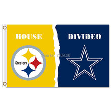 Pittsburgh Steelers Flag Vs Dallas Cowboys Banner Flag World Series Football Team 3ft X 5ft Steelers And Cowboys Banner(China)