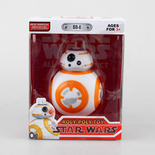 "Free Shipping Cute 4"" Star Wars The Force Awakens BB8 BB-8 Droid Robot Boxed 11cm PVC Action Figure Collection Model Doll Toy(China)"