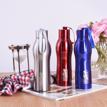 500ML Fashion Color Bullet Shape Stainless Steel Sprots Water Bottle Hiking Cycling Camping Portable Vacuum Drinkware (China)