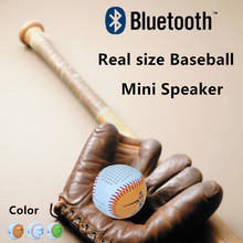 Roly Poly Design Baseball Bluetooth Speaker Mini Subwoofer Micro USB Line in audio player Support TF card Download and playing