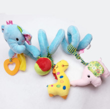 Jollybaby new infant Toys Baby crib Elephant revolves around bed toy car lathe hanging  rattles Mobile with Teether
