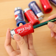 1 PCS New Cute Cola Pencil Sharpener Belt Eraser Combination Stationary Office School Supplies Promotional Gift Student Prize