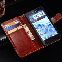 Deluxe Retro Leather Case For Lenovo P780 Wallet Style Phone Bag Cover Flip Stand With Card Slot Black Brown Drop Ship(China)