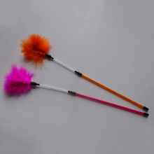 6pcs/lot Feather Cat Toy Teaser Stick Pet Playing Toys For Cats Kitten Funny Jumping Jouet Chat Interactive Wand Orange Rose Red(China)