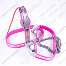 Buy HOT sale RED Stainless steel (Bra+chastity belt female) nipple clamps bdsm fetish bondage restraints adult sex toys couples