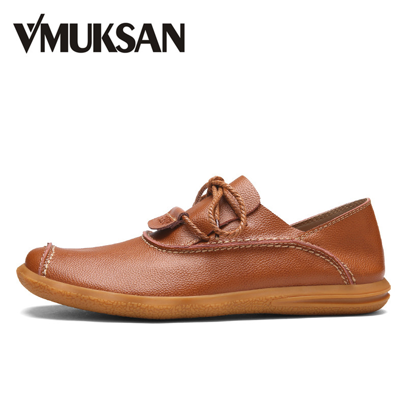 VMUKSAN Brand New Mens Leather Shoes Breathable Spring Casual Shoes Black Fashion Mens Shoes<br>