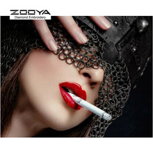 5D DIY Diamond Painting Red Mouth Diamond Painting Cross Stitch Sexy Red Lips Woman Diamond Stick Drill Drawing Rhinestone CJ215(China)