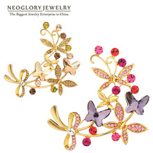 Neoglory Austrian Crystal Rhinestone Brooch Butterfly Design Jewelry New Gift 2017 New Hot Selling Gift for
