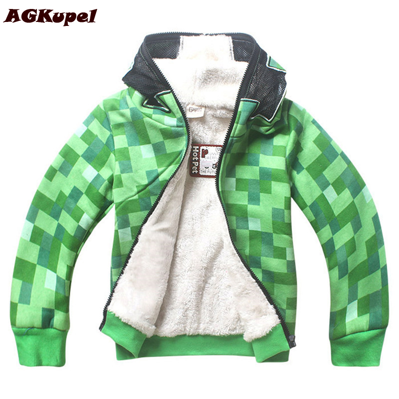 AGKupel New Warm Children Winter Jackets For Boys Fleece Coats Fashion Jacket For Girls Boys Hooded Kids Outerwear Coat For Boys<br>