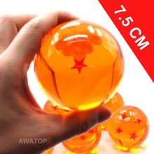 7.5CM 7cm big size 1 2 3 4 5 6 7 star dragonball dragon ball crystal balls z action figures classic toys for chlidren New in box