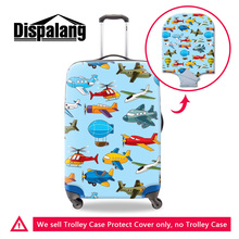 Dispalang colorful airplane luggage protective cover high quality cute cartoon aircraft waterproof travel suitcase covers retail