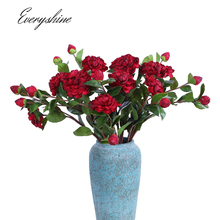 Long 62cm Real Touch 2 Heads Silk Craft Artificial Peony Flower Bud Fake Flower Bouquet for Wedding Home Decoration JK428(China)