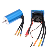 3674 2250KV 4P Sensorless Brushless Motor with 120A Brushless ESC Electric Speed Controller for 1/8 RC Car Truck