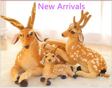 1 pc 30cm Simulation Deer Plush Toy Staffed Sika Deer Toy for Kids Baby Doll Children's Birthday Gift w60