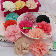 Fabric 8cm 25pcs Artificial Silk Rose Flower Head to Women Wedding Party Church Decor Hair Clothes Brooch Shoe no clip 13 Color(China)