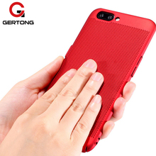 GerTong Breathable Case Oneplus 5T 5 1+ 5 5T Heat Dissipation Back Cover One plus 5 5T Case Phone Shell Protective Cover