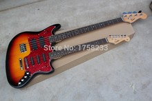 Free shipping 2015 New Style Double neck guitar 4 strings bass & 6strings Stratocaster electric guitar