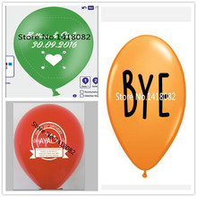 200 pcs/lot custom balloon printing logo custom advertising balloons 2.2g All kinds of colors balloons free shipping