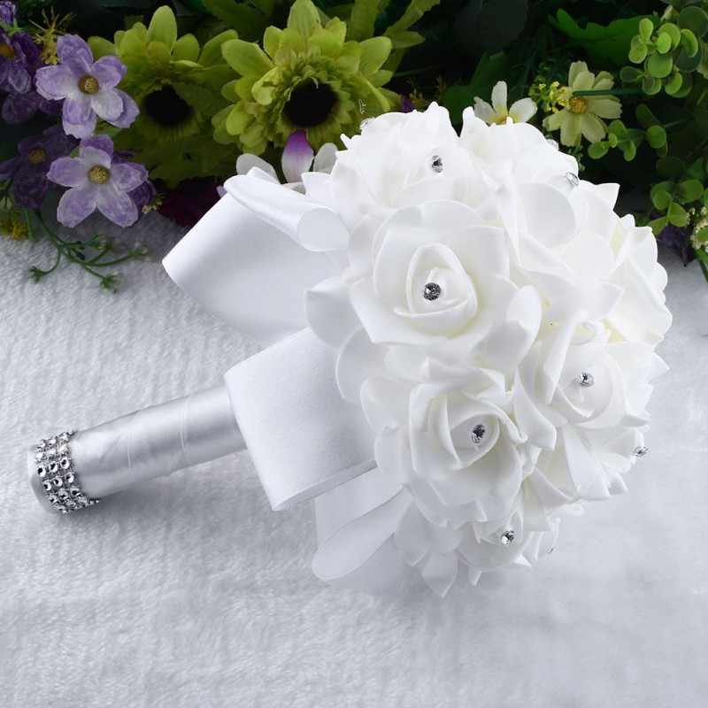 Romantic Beauty Weeding Fllower Bouquet Package For Bride Flowergirls Bridal Decora 16 Pcs