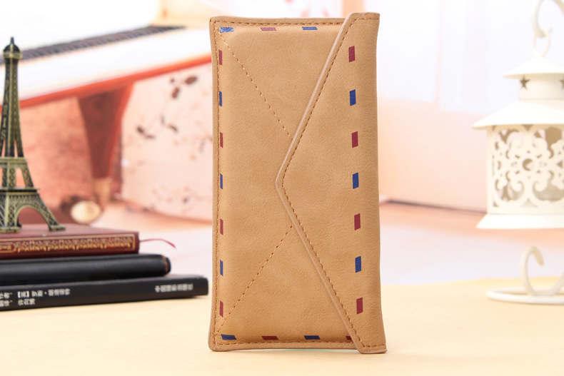 Luxury Envelope Phone Cases PU Leather Holster Bag Cover for 4.7-5.5″ Mobile Phone Bag Cover phone Case Retro Pouch Mail case