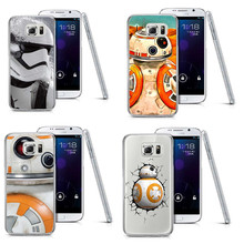 Star Wars The Force Awakens BB-8 Droid Robot R2D2 Plastic Cover Case For Samsung A3 A5 A7 A8  S3 S4 S5 S6 S6 Edge S7 S8 S8 Plus