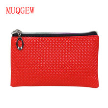 MUQGEW women wallet luxury brand Fashion PU leather coin purse Zipper Clutch Purse Lady Long Handbag Bag Pretty candy color 2017
