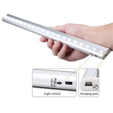 Lightinbox Rechargeable Stick-on Anywhere 20-LED USB Charging Wireless Motion Sensing Closet Cabinet LED Night Light
