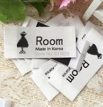 Customized garment labels/trademark/logo/Trademark manufacture clothing printed labels/custom dress tags 1000 pcs Free Shipping