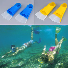 HWSilicone Swimming Flippers Snorkeling Training Short Fins Diving Swim Flippers Youth Adult New Arrival