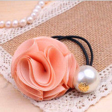 Hot Sales cute  flower and Simulated pearl elastic Headband Hair rubber for Women hair Accessories --CRYSTAL SHOP Free shipping