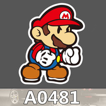 A0481 Nintendo Super Mario Waterproof Sticker for Cars Laptop Luggage Fridge Skateboard Graffiti Cartoon Notebook Stickers