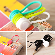 3pcs/lot New Arrival Magnetic Earphone Winder Cable Cord Organizer Holder For Iphone For phone Mp5  Cable Cord Wrap Organizer