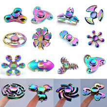 Buy 2017 3 colours Tri-spinner Finger Spinner Triangle Handspinner Fidget Hand Spinner Zinc Alloy Fidget Toy Anti Stress Kids Gift for $2.65 in AliExpress store