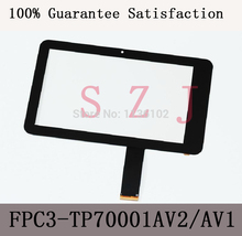 "(Ref: FPC3-TP70001AV2/MH7001T-00FPC)7"" inch LCD touch panel LCD touch digitizer glass for Freelander PD10 PD20 tablet PC"