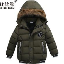 Baby boys girls winter clothes boy hooded jacket 2018 winter warm children outerwear kids zipper jacket coat 2 4 6 8yrs