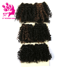 6PCS/lot Short Africa Afro Kinky Curly Hair Weaving Weft Synthetic Brading Hair Deep Curly Braiding hair