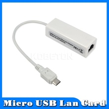 Micro USB 2.0 HUB 10/100MB RJ45 USB LAN Adapter Wired Network Card For Win7 Android Mac OS Laptop