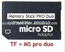 Micro SD TF to Memory Stick MS Pro Duo Adapter converter For PSP Support 4GB 8GB 16GB 32GB 64GB 5pcs/lot note: onlyl the adapter