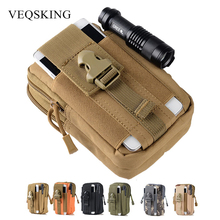 800D Nylon Military Tactical Pouch,Outdoor Molle Waist Belt Bag,5.7inch Universal Tactical Phone Pouch Mountain Outfit 6 Colors
