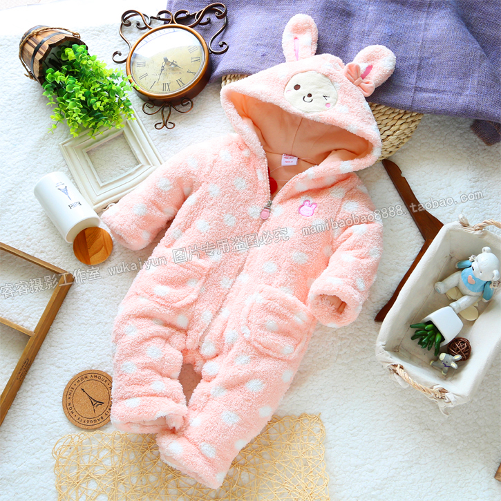 Free shipping Retail 2014 autumn winter cotton romper baby clothing baby girls romper kids animal overall baby wear<br><br>Aliexpress