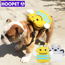 HOOPET Dog Backpack Puppy Cat Out Bag Double Shoulder for Small Dog Teddy Bears Pet Accessories(China)