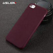 Buy USLION Phone Case iPhone 8 8 Plus Simple Solid Color Ultrathin Soft TPU Cases Candy Color Back Cover Capa iPhone8 Plus for $1.03 in AliExpress store