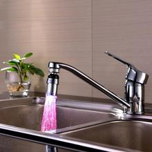 New Kitchen Sink 7 Color Change Water Glow Water Stream Shower LED Faucet Taps Light(China)