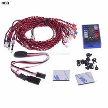12 LED Flashing Head Light Lamp System 2.4G CH2 Kit For RC 1:10 Scale Car Truck  #T026#