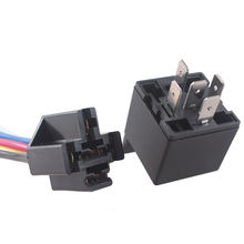 EE support 10Pcs 12V 12 Volt DC 40A AMP Relay & Socket SPDT 5Pin 5 Wire Truck Auto Car Accessories  XY01