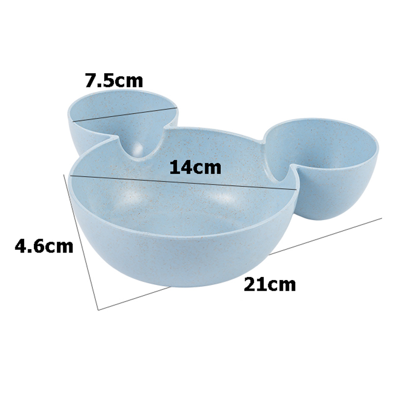 Baby Bamboo Food Storage Cute Minnie Mouse Children Feeding Bowl Eco-friendly Kids Plate Fruit Dinner Food Tableware Dish BB5078 (10)