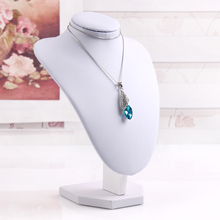 T06-3 High Grade 22cm White PU Leather Necklace Display Model Stand Mannequin (PROFESSIONAL OFFER)