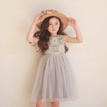 Buy Fashion Flower Girls Dress Sleeveless Mesh Wedding Party Summer Lace Princess Clothing Children Clothes Kids Tutu Dresses for $14.16 in AliExpress store