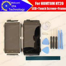 HOMTOM HT20 LCD Display + Touch Screen Digitizer + Frame Assembly 100% Original New LCD + Touch Digitizer HT20 + Tools