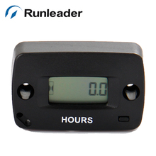 (10pcs/lot) Runleader HM018 Waterproof LCD Digital Hour Meter for Yacht Marine Racing Boat Motorboat chainsaw jet ski motorboat